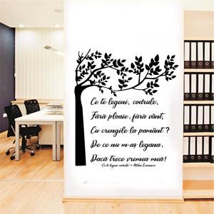 Sticker perete Citat Mihai Eminescu