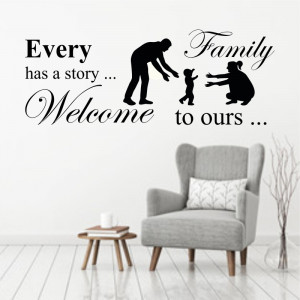 Sticker perete Family 4