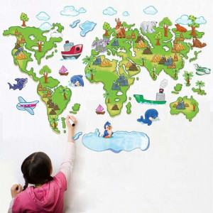 Sticker perete Map of the world