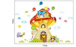 Sticker perete Mushroom house