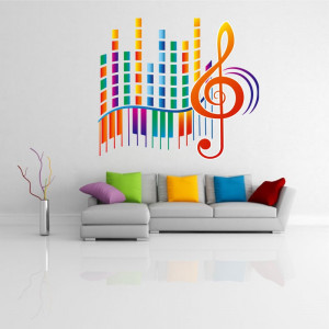 Sticker perete Music Beat