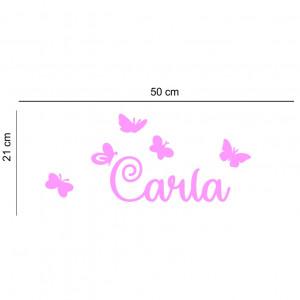 Sticker perete personalizat My Name Girl 13