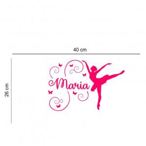 Sticker perete personalizat My Name Girl 18