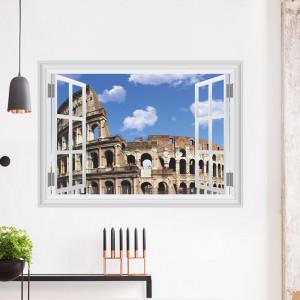 Sticker perete Rome 3D Window