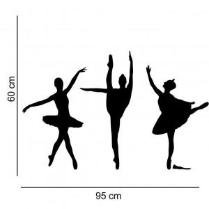 Sticker perete Siluete balerine 1