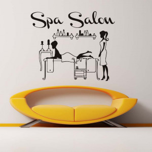 Sticker perete Spa Salon