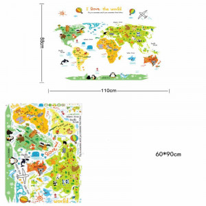 Sticker perete World Map