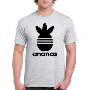 Tricou personalizat barbati alb Ananas
