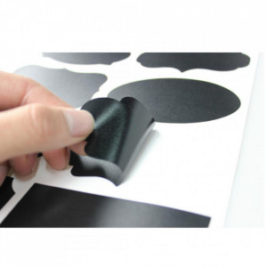 Etichete refolosibile ovale - Chalkboard 3,5 x 5 cm x 12 buc