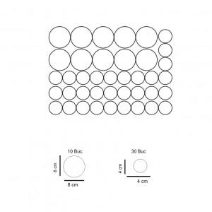 Set stickere perete Buline Albe
