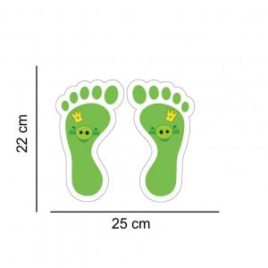 Set stickere podea Picioruse Purcelus