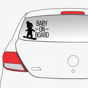 Sticker auto Cool Baby on Board