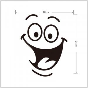 Sticker decorativ Happy Face 2 18 x 24 cm