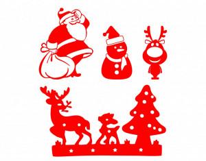 Sticker decorativ Set Figurine Craciun 1