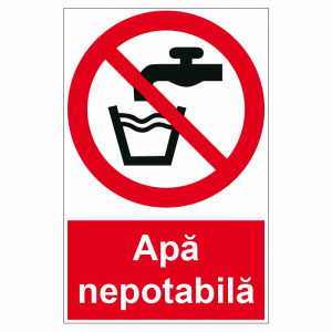 Sticker indicator Apa nepotabila