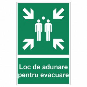 Sticker indicator Loc de adunare pentru evacuare