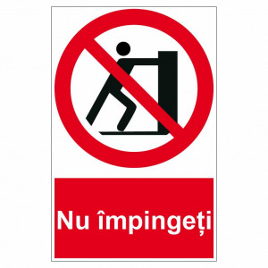 Sticker indicator Nu impingeti