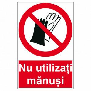 Sticker indicator Nu utilizati manusi