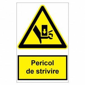 Sticker indicator Pericol de strivire 2