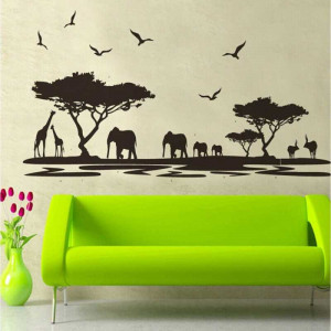 Sticker perete Africa
