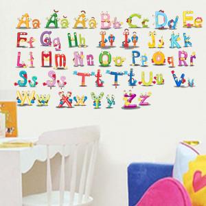 Sticker perete Alfabetul Vesel al limbii romane 2