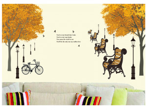 Sticker perete Autumn in the park