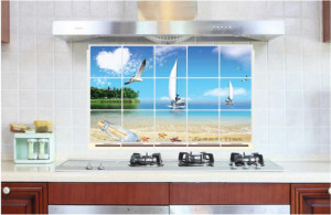 Sticker perete Beach Kitchen Decor