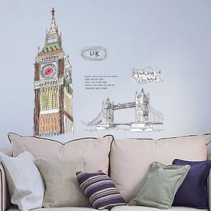 Sticker perete Big Ben & Tower Bridge