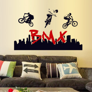 Sticker perete BMX