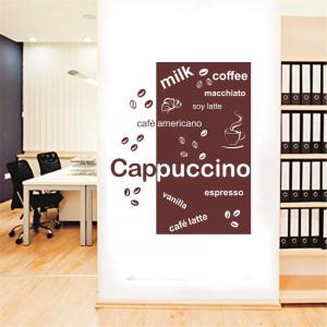 Sticker perete Cappucino, espresso, latte