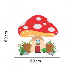 Sticker perete Casuta Ciuperca