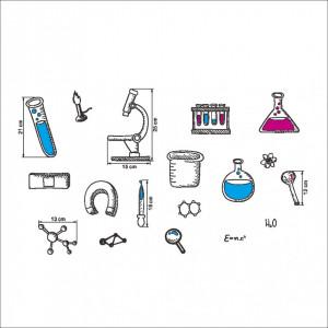 Sticker perete Chemistry Lab