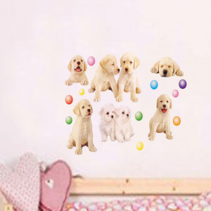 Sticker perete Cute puppies