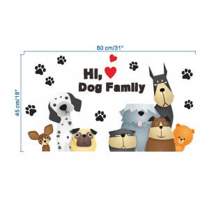 Sticker perete familie de catei 6