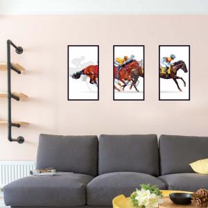 Sticker perete Horse Race 3 buc/set 60x90cm