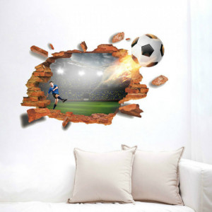 Sticker perete I Love Football 3D