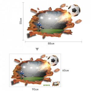 Sticker perete I Love Football 3D