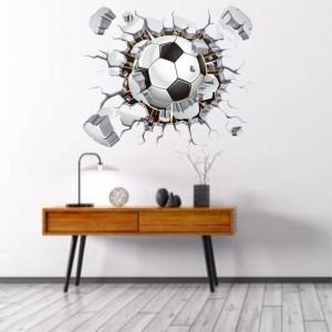 Sticker perete Minge Fotbal 3D