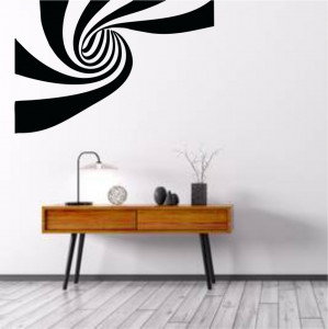 Sticker perete Optical Illusion Stripes