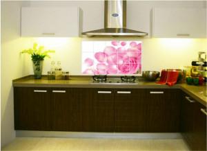 Sticker perete Pink Rose Kitchen Decor