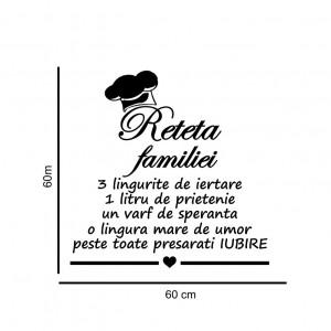 Sticker perete Reteta Familiei