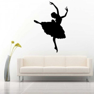 Sticker perete Silueta balerina