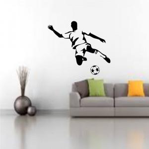 Sticker perete Silueta Fotbalist