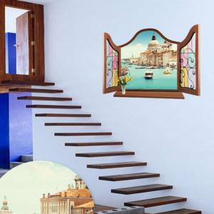 Sticker perete Venice 3D 60 x 90 cm