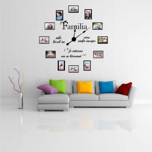 Stricker decorativ ceas Familia mea (12 rame foto)