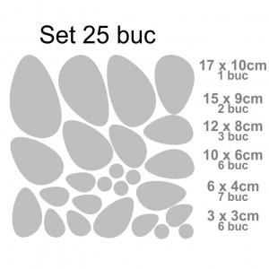 Sticker acrilic 3D Stones Mirrors Silver
