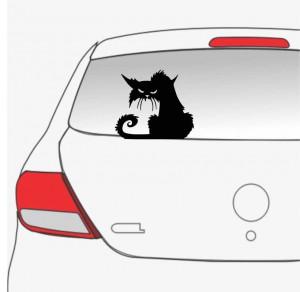 Sticker auto Pisica neagra 4