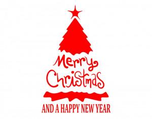 Sticker decorativ Brad Merry Christmas