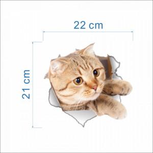 Sticker decorativ Here I am - Kitty 21 x 22 cm