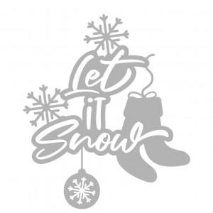 Sticker decorativ Let It Snow